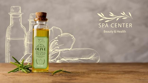 Productos cosméticos naturales en el spa para el tratamiento.
