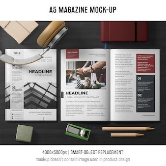 Professioneel a5-brochure-mockup