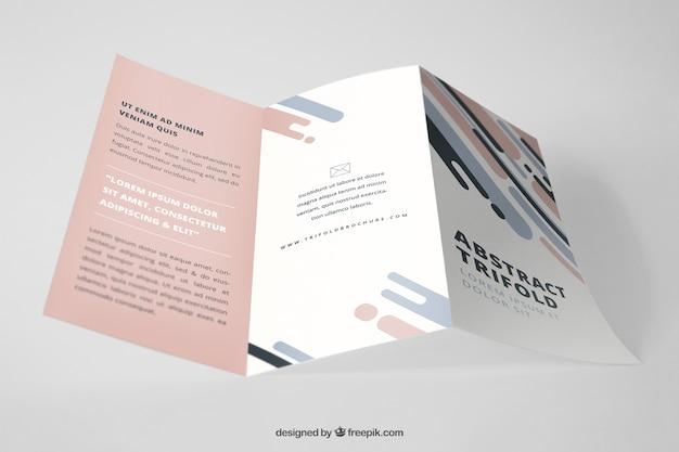 Professioneel driebladig brochure-model