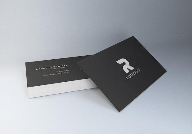 Professioneel visitekaartje mockup geweven papier