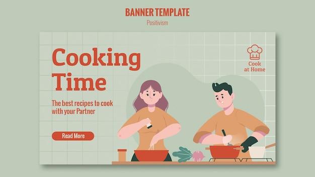 Progettazione banner chef a casa