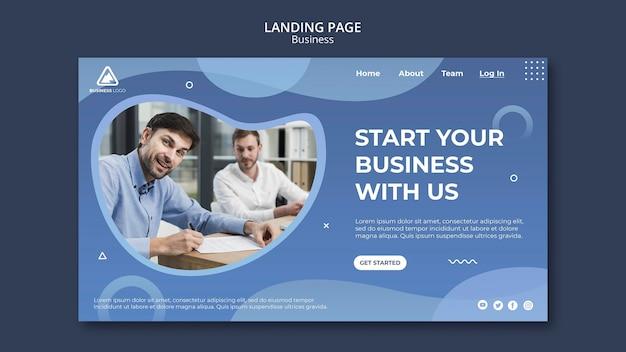 Progettazione della pagina di destinazione del concetto aziendale
