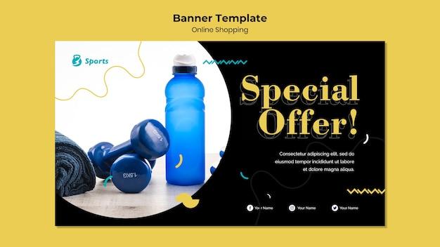 Progettazione di banner per lo shopping online