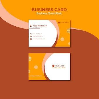 Progettazione di biglietti da visita per uomo d'affari