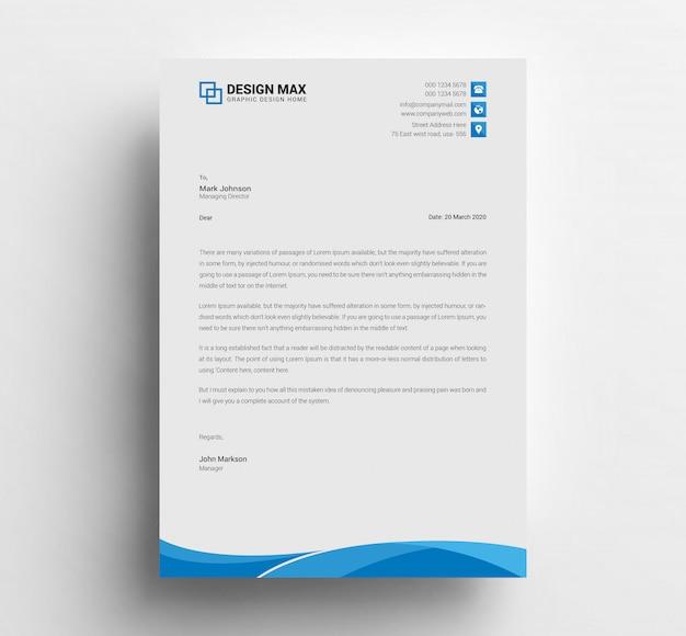 Progettazione di carta intestata aziendale