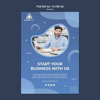 Progettazione di poster concetto aziendale