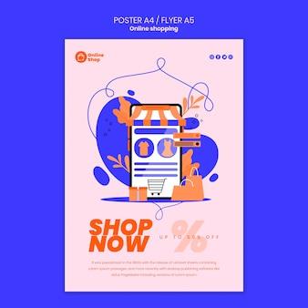 Progettazione di poster dello shopping online