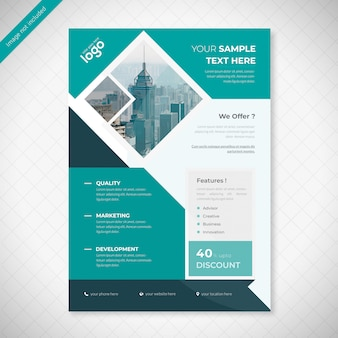 Progetto di business flyer copista