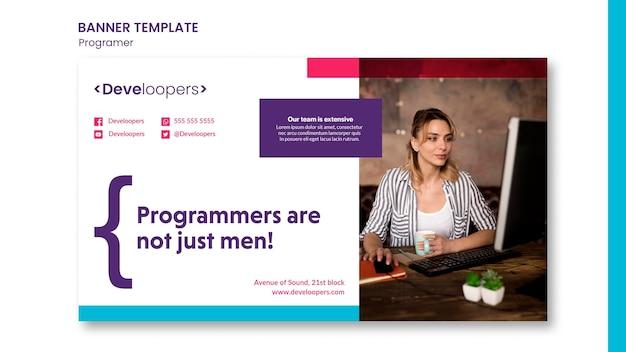 Programmeur advertentie sjabloon banner