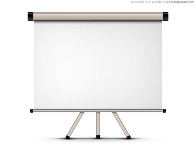 Proiezione schermo bianco (psd)