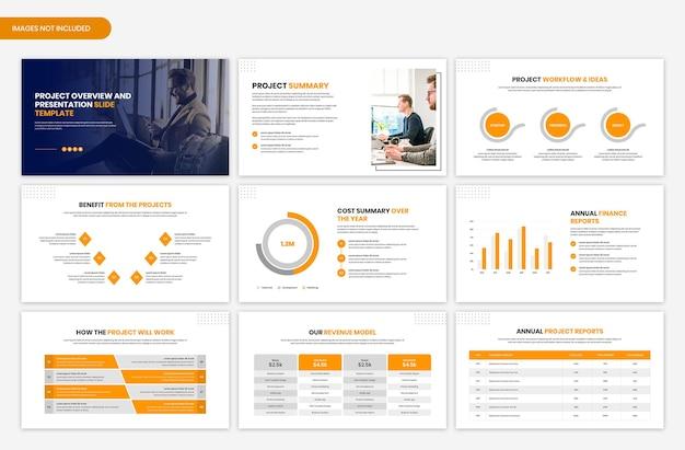 Projectoverzicht en presentatiediasjabloon