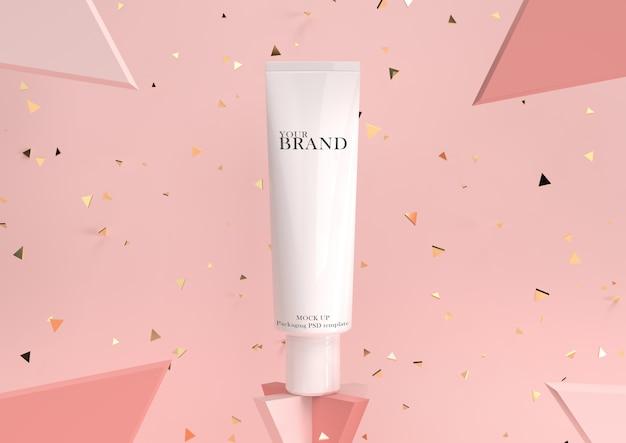 Promo cosmética hidratante para el cuidado de la piel