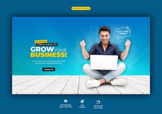 Promoción empresarial y plantilla de banner web corporativo