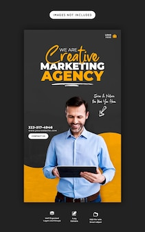 Promoción empresarial y plantilla de historia creativa de instagram
