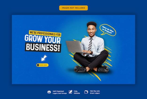 Promoción de negocios y plantilla de banner web corporativo
