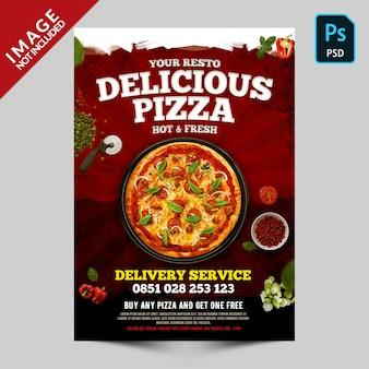 Promoción de pizza deliciosa