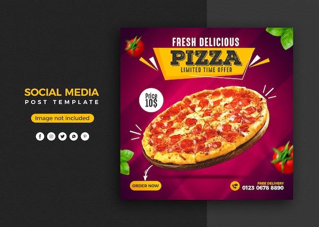 Promoción de redes sociales y plantilla de diseño de publicación de banner de instagram
