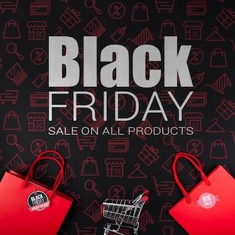 Promoción de ventas de viernes negro cibernético