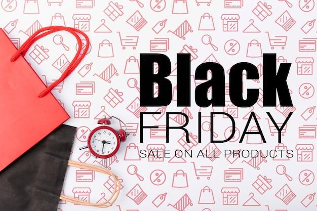 Promoción de ventas de viernes negro en línea
