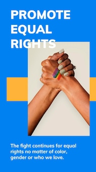Promoot gelijke rechten sjabloon psd lgbtq trots maand viering social media verhaal