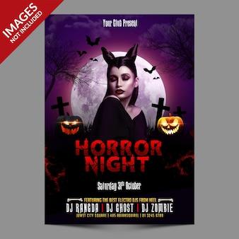Promotie flyer voor halloween-evenement premium psd-sjabloon