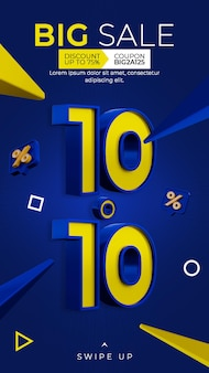 Promotie kortingsbanner 1010 instagram postverhaalsjabloon