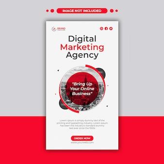 Promotie van digitaal marketingbureau en creatieve instagram-verhaalsjabloon