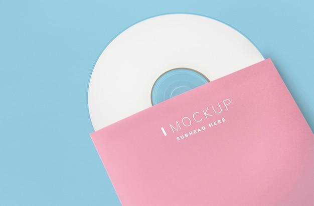 Promotiemateriaal cd-pakket mockup