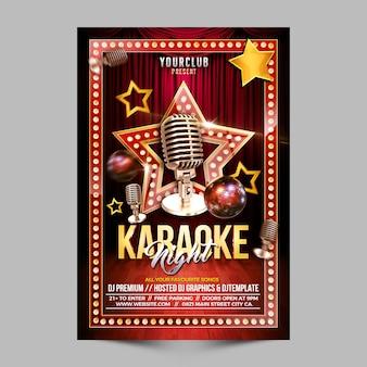 Promozione flyer notturno di karaoke