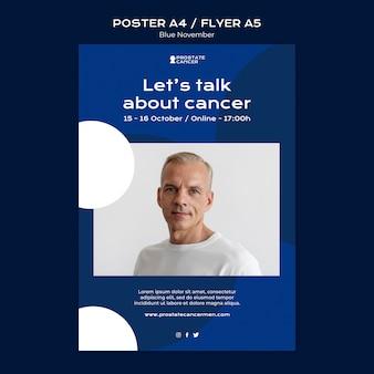 Prostaatkanker bewustzijn afdruksjabloon