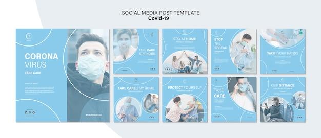 Protégete plantilla de redes sociales