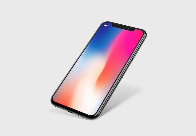 Prototipo di smartphone con schermo mockup