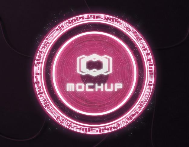 Proyector de efecto de logo futurista
