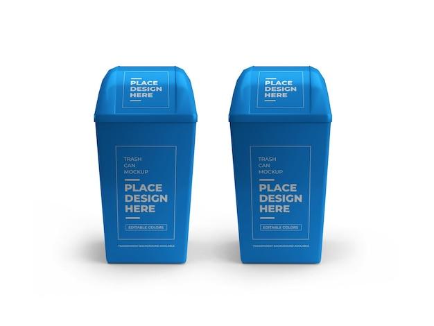 Prullenbak kan mockup ontwerp geïsoleerd
