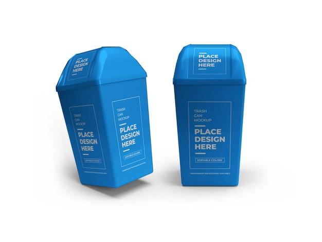 Prullenbak kan mockup ontwerp geïsoleerd Premium Psd