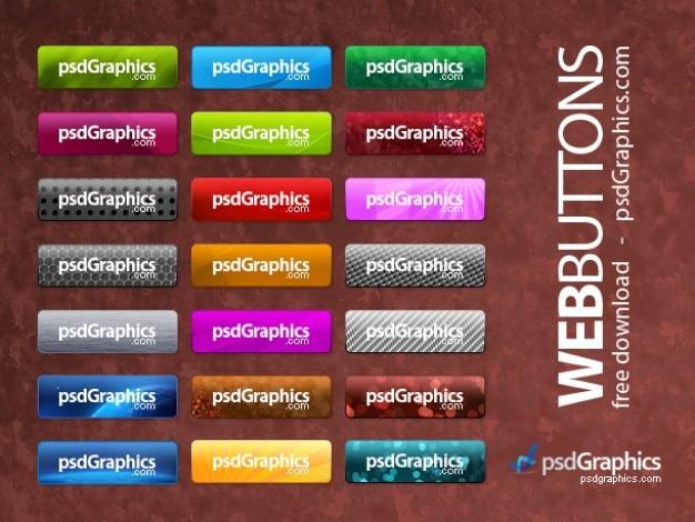 Psd di photoshop pulsanti web
