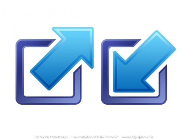 Psd iconos de minimizar y maximizar