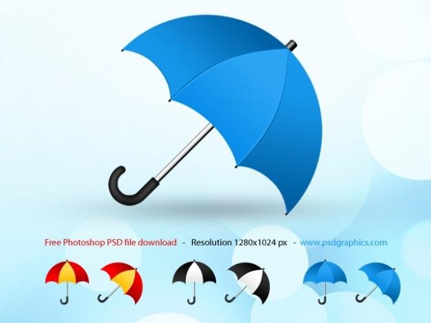 Psd paraplu icoon