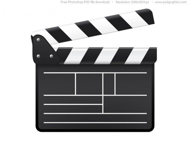 Psd película tablilla icono