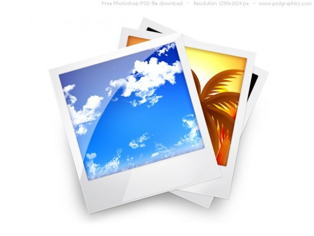Psd photo gallery icoon