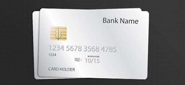 Psd plantilla de tarjeta de crédito