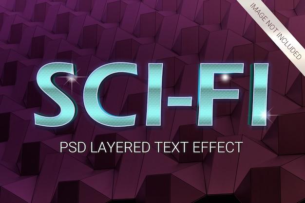 Psd science fiction futuristisch 80s gelaagd teksteffect
