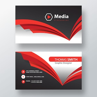 Psd-sjabloon voor visitekaartjes voor bedrijven