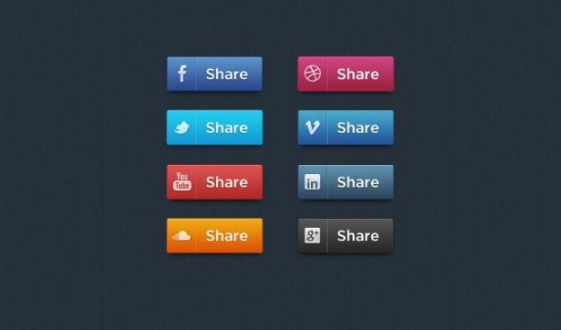 Psd sociale icoon sociale media sociale media pictogrammen