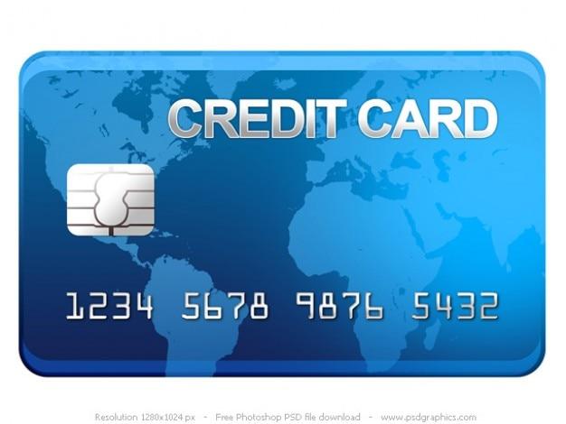 Psd tarjeta de crédito icono