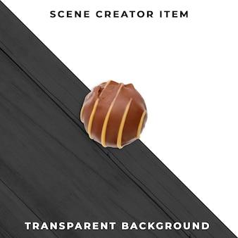Psd transparente de chocolate