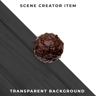 Psd trasparente al cioccolato