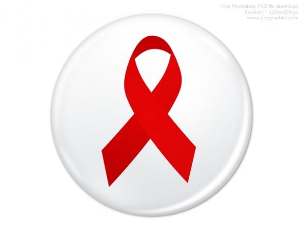 Psd wereld aids dag badge