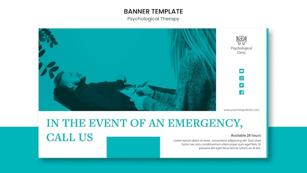Psychologische therapie banner concept