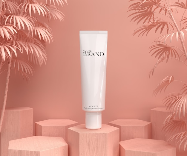 Pubblicità del prodotto idratante per la cura della pelle